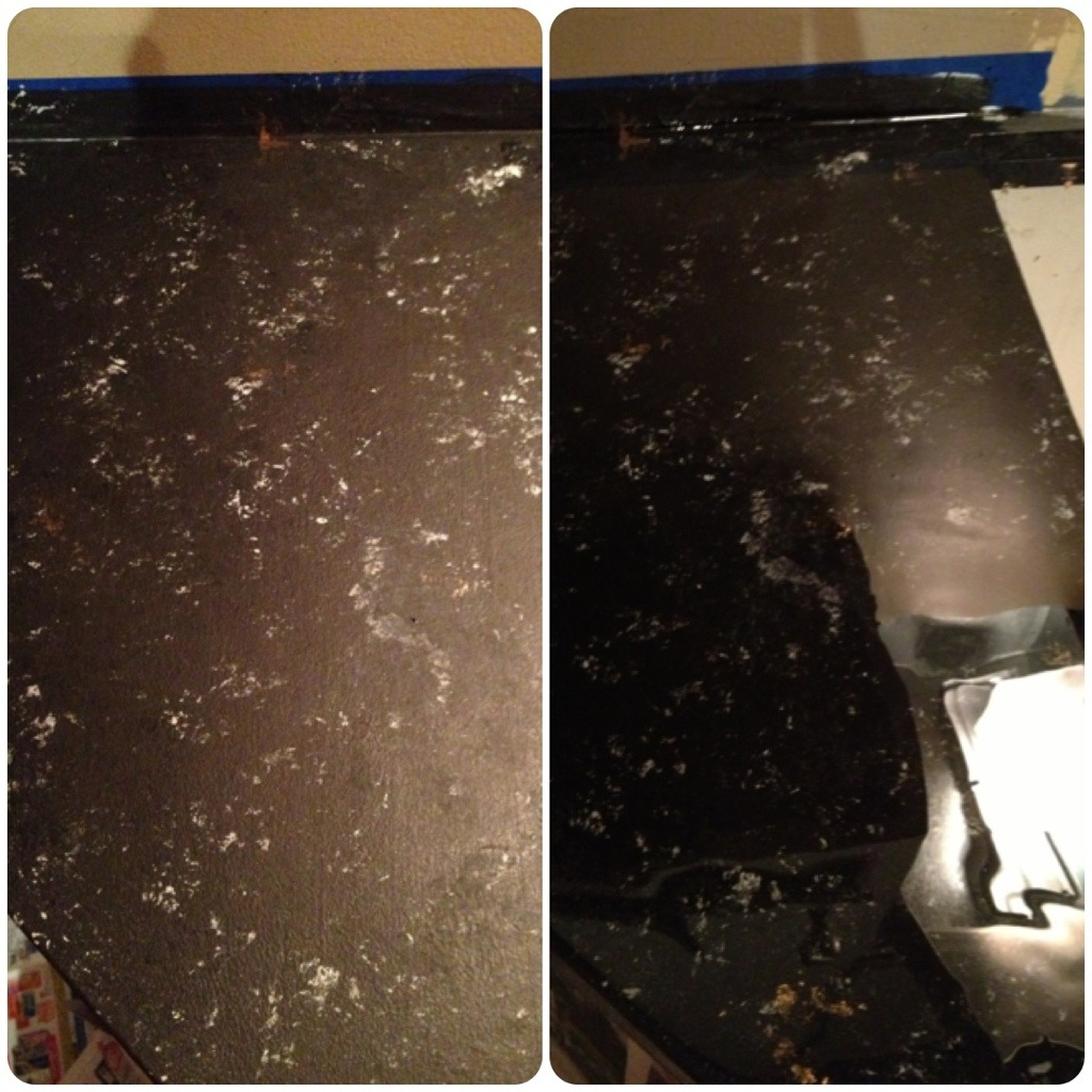 Imitation Granite Countertops Kitchen Faux Granite Countertops With Acrylic Paints Yup I Did It A