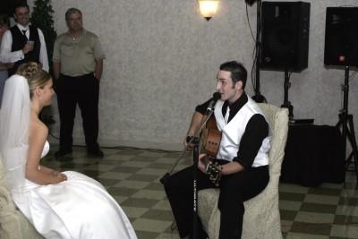 Adam Singing to Stefanie
